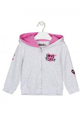 chaqueta con capucha Losan para niña modelo 126-6653AL