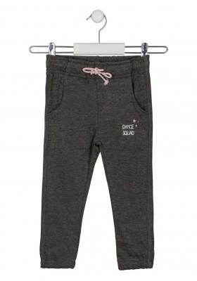 pantalon de felpa perchada con print Losan para niña modelo 126-6038AL