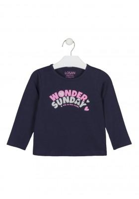 camiseta de manga larga con print Losan para niña modelo 126-1630AL