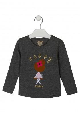 camiseta de manga larga con bordado Losan para niña modelo 126-1010AL