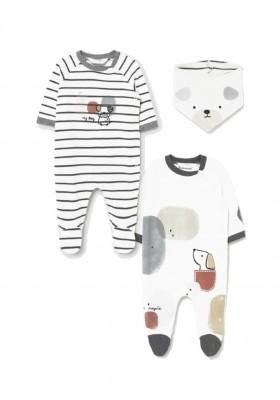 Set 2 pelele punto y bandana de Mayoral para bebe niño modelo 2686