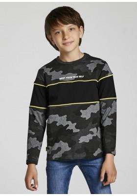Camiseta manga larga camuflaje de Mayoral para niño modelo 7006