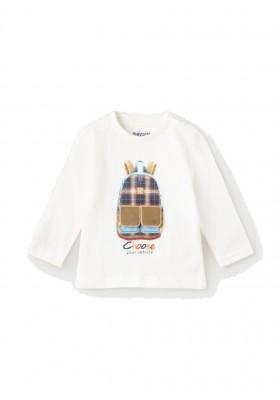 "Camiseta manga larga ""play"" mochila de Mayoral para bebe niño modelo 2064"