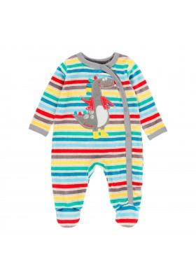 Pelele terciopelo listado de bebé Boboli modelo 143097