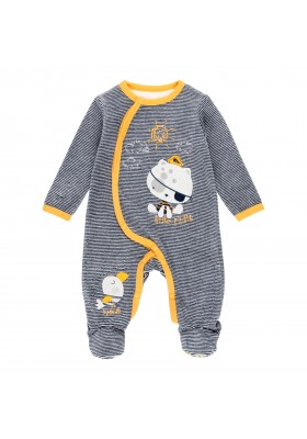 Pelele terciopelo listado de bebé Boboli modelo 133063
