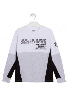 camiseta de manga larga con print Losan para niño modelo 123-1030AL