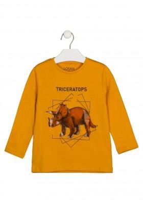 camiseta de manga larga con print Losan para niño modelo 125-1020AL