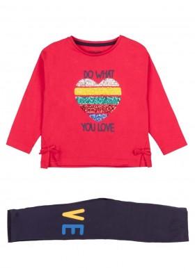conjunto de camiseta y leggins Losan para niña modelo 126-8001AL