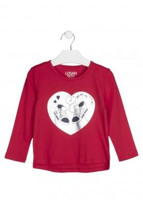 camiseta de manga larga con print Losan para niña modelo 126-1206AL
