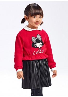 Vestido combinado polipiel de Mayoral para niña modelo 4921