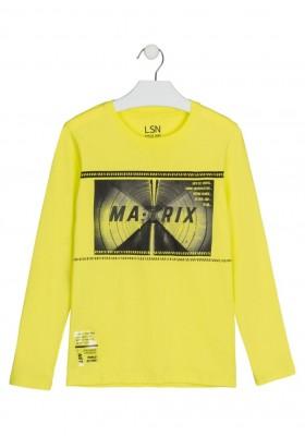 camiseta de manga larga con print Losan para niño modelo 123-1005AL