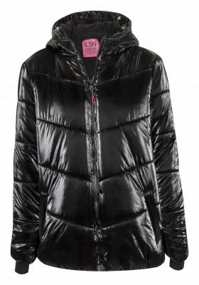 parka metalizada con capucha Losan para niña modelo 124-2010AL