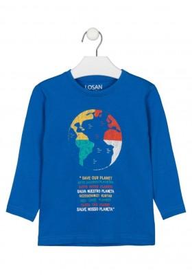 camiseta de manga larga con print Losan para niño modelo 125-1205AL