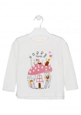 camiseta de manga larga con print Losan para niña modelo 126-1011AL