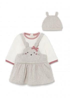 Pelele falda y gorro de Mayoral para bebe niña modelo 2893