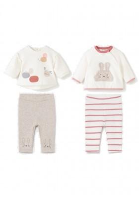 Conjunto leggings 4 piezas de Mayoral para bebe niña modelo 2703