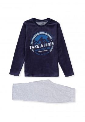 pijama de tundosado con print Losan para niño modelo 123-P001AL
