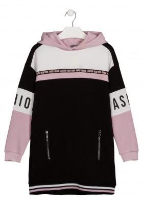vestido de manga larga de interlock Losan para niña modelo 124-7004AL