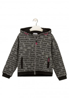 chaqueta de felpa con capucha Losan para niña modelo 124-6022AL