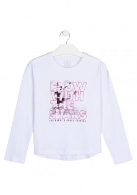 camiseta manga larga con printing Losan para niña modelo 124-1022AL
