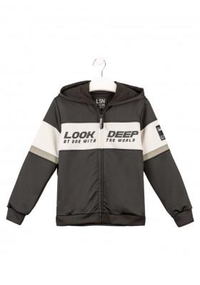 chaqueta de interlock con capucha Losan para niño modelo 123-6008AL
