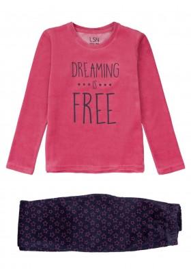 pijama de tundosado con print Losan para niña modelo 124-P001AL