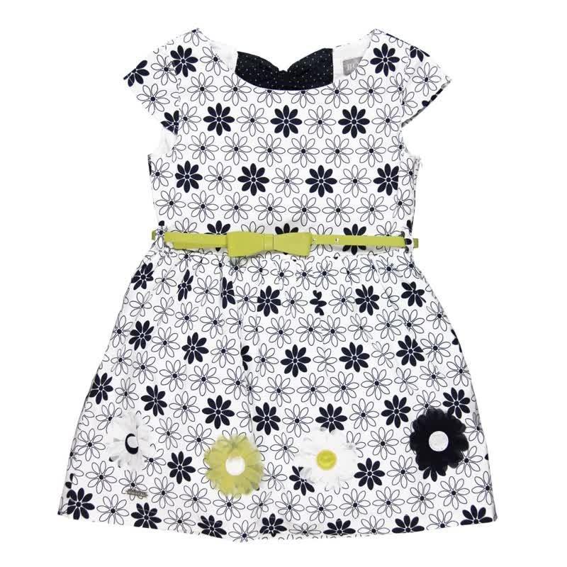 206d9109b Vestido niña BOBOLI satén estampado margarita - tortugablava