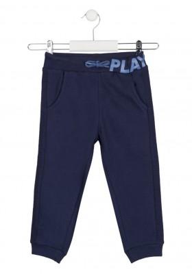 pantalon de felpa perchada con prints Losan para niño modelo 125-6014AL