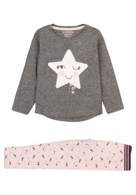 conjunto de camiseta y leggins Losan para niña modelo 126-8026AL