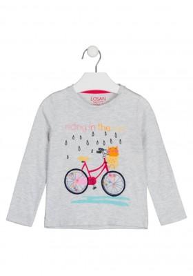 camiseta manga larga con parche de tul Losan para niña modelo 126-1014AL