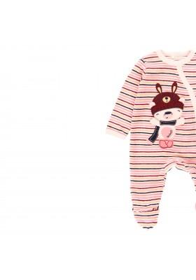 Pelele terciopelo listado de bebé Boboli modelo 123084