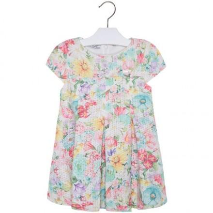 Vestido manga corto niña MAYORAL estampado flores
