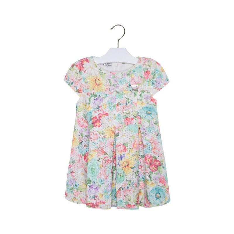 117c40934 Vestido manga corto niña MAYORAL estampado flores - tortugablava