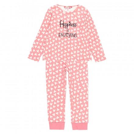 Pijama interlock corazones de niña Boboli modelo 923059