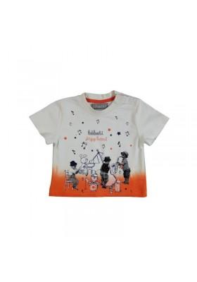"Camiseta manga corta BOBOLI bebe niño ""musicos"""