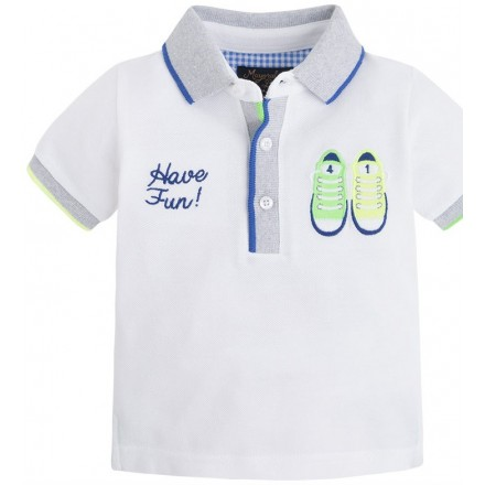 Polo manga corta MAYORAL bebe niño blanco