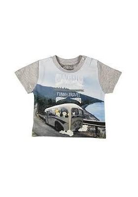 "Camiseta manga corta BOBOLI bebe niño ""bus"""