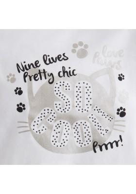 "Camiseta manga larga MAYORAL niña ""gato"""