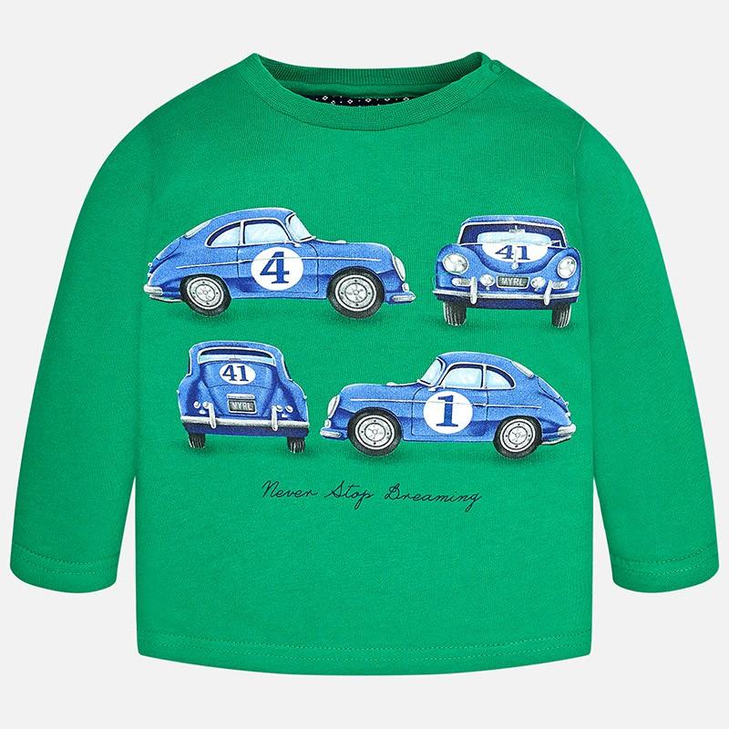 9e2ed047b Camiseta manga larga MAYORAL bebe niño serigrafia coche - tortugablava