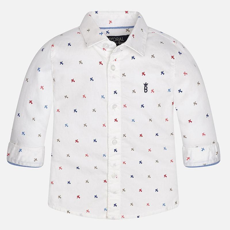 72937c303 Camisa manga larga MAYORAL bebe niño estampada - tortugablava