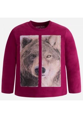 "Camiseta manga larga MAYORAL niño ""lobo/oso"""