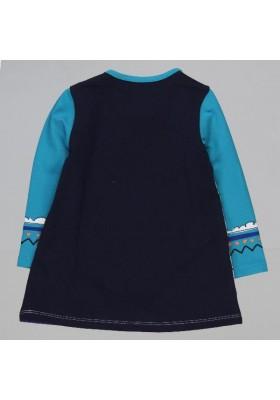 Vestido punto elástico BOBOLI de bebé niña