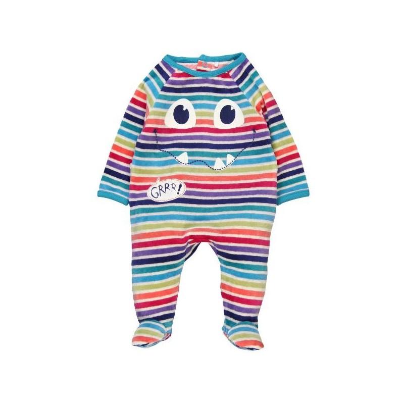 7ea38b2ec3d6c Pelele terciopelo BOBOLI de bebé multicolor - tortugablava