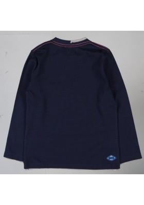Camiseta manga larga BOBOLI punto liso de niño