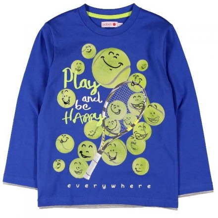 7da42bb1b3 Camiseta manga larga BOBOLI punto liso de niño - tortugablava
