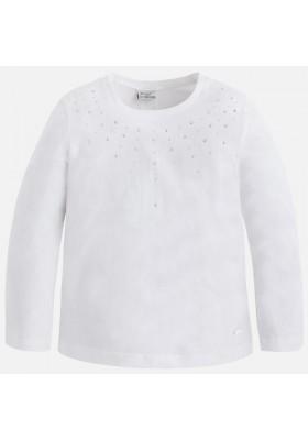 Camiseta manga larga MAYORAL niña punto strass
