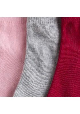 Set 3 calcetines MAYORAL niña color frambuesa