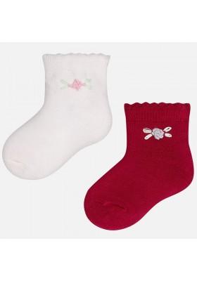 Set 2 calcetines MAYORAL bebe niña flor
