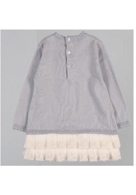 Vestido BOBOLI bebe niña tricotosa color humo