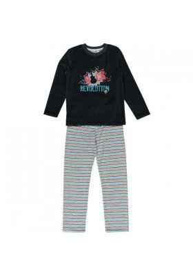 Pijama BOBOLI niño terciopelo